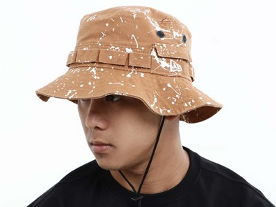 New Era Splash Paint Washed Duck Tan Adventure Bucket Cap