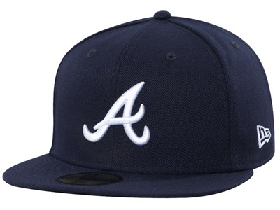 quality design cc2d9 25702 Atlanta Braves MLB 150th Anniversary AC Perf Navy 59FIFTY Cap ...