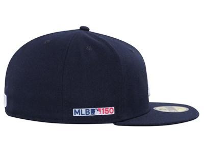 finest selection c8843 2c35f ... Atlanta Braves MLB 150th Anniversary AC Perf Navy 59FIFTY Cap. New