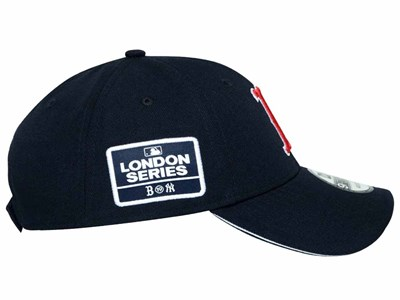 Boston Red Sox MLB London Series Woven Rear Tab Navy 9FORTY Cap