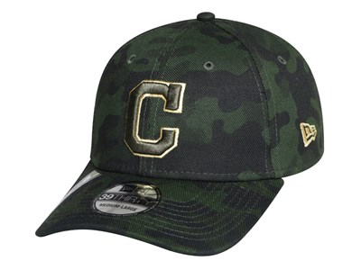 Cleveland Indians MLB Armed Forces Weekend 2019 Dark Green 39THIRTY Cap