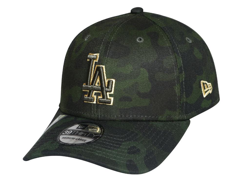 024109b206fc95 Los Angeles Dodgers MLB Armed Forces Weekend 2019 Dark Green 39THIRTY Cap