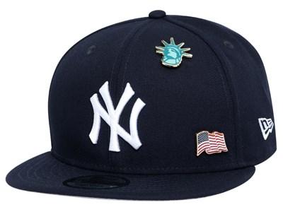 c3a0b5c4 New York Yankees MLB Pin Pride Navy 9FIFTY Cap ...