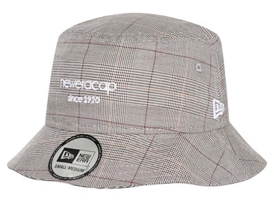 New Era Cap Since 1920 Formal Checks Gray Bucket Cap