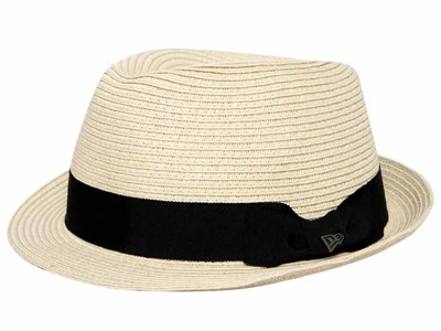New Era Black Band EK Natural Trilby Cap