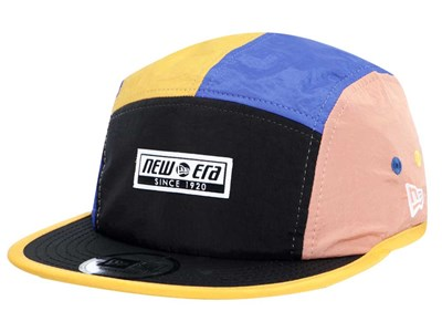 New Era Color Block Black Blue Orange Yellow Jet Cap