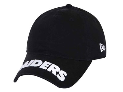Oakland Raiders NFL Logo Pitch Black 9THIRTY Cap