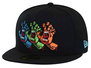 Screaming Hands Santa Cruz Black 59FIFTY Cap