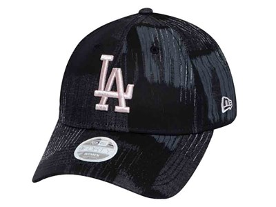 Los Angeles Dodgers MLB Tactile Camo Pink Logo Black Camo 9FORTY Womens Cap