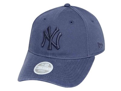 New York Yankees MLB Muted Tones Washed Slate Blue 9FORTY Womens Cap