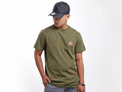 New Era King Crown Short Sleeve Forest Green Shirt