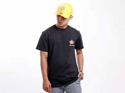 New Era King Crown Short Sleeve Black Shirt