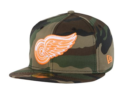 Detroit Red Wings NHL Woodland Camo 59FIFTY Cap