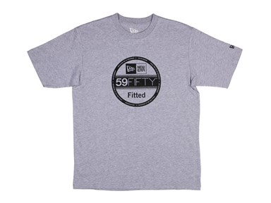 New Era Visor Sticker Gray Basic Tee