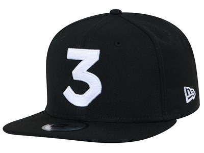 Chance The Rapper Music White Logo Black 9FIFTY High Crown Cap (ONLINE EXCLUSIVE)