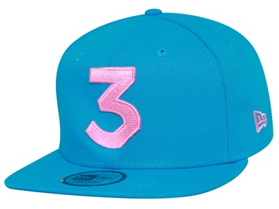 Chance The Rapper Music Pink Logo Sunwash Blue 9FIFTY High Crown Cap (ONLINE EXCLUSIVE)