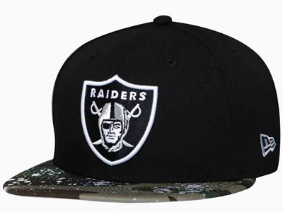 Oakland Raiders NFL Camo Splatter Black 9FIFTY Cap