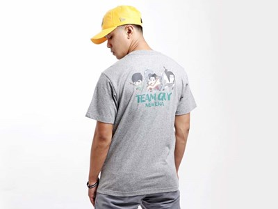 Team Guy Naruto Heather Gray Short Sleeves T-Shirt