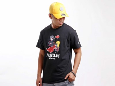 Akatsuki Naruto Black Short Sleeves Shirt