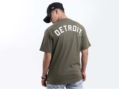 Detroit Tigers MLB Cooperstown New Olive Short Sleeve Olive Shirt