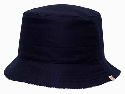 New Era Houndstooth EK Navy Reversible Bucket Hat