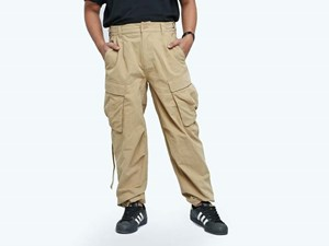 New Era Pitch Washed Beige Woven Pants