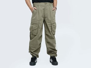 New Era Pitch Washed Forest Green Woven Pants