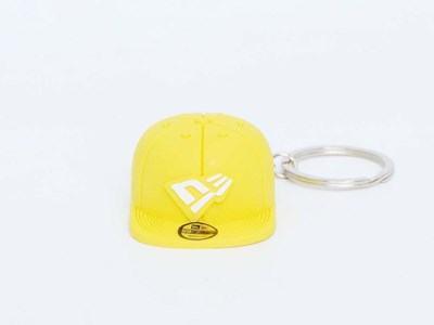 New Era Cap Yellow Keychain