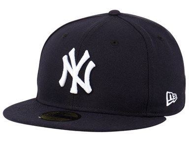 New York Yankees MLB AC Navy Blue 59FIFTY Cap (ESSENTIAL) ... 7d83b3c71ee