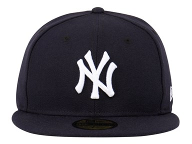 ... New York Yankees MLB AC Navy Blue 59FIFTY Cap (ESSENTIAL) a3c6c52d66b