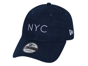 New Era NYC Linen Navy 9FORTY Unstructured Cap