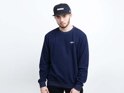 New Era Essential Cotton Terry Navy Crew Neck