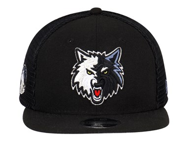Minnesota Timberwolves NBA Mesh Fresh Black 9FIFTY Cap