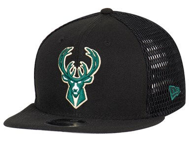 Milwaukee Bucks NBA Mesh Fresh Black 9FIFTY Cap