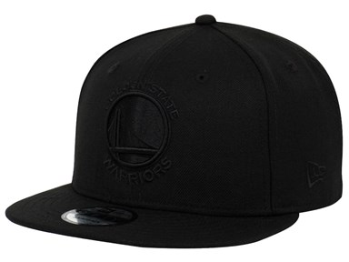 Golden State Warriors NBA Black on Black 9FIFTY Cap
