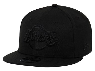 Los Angeles Lakers NBA Black on Black 9FIFTY Cap