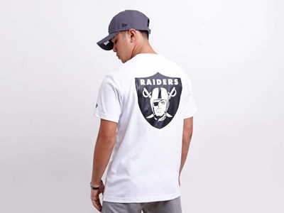 Oakland Raiders NFL Cool Era Short Sleeve White Shirt