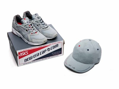 New Era 9FIFTY Retro Crown Cap x ASICS GEL-DS Trainer™ Gray Shoe Bundle