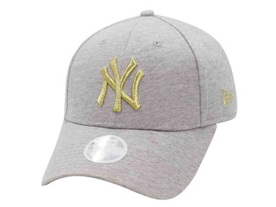 New York Yankees MLB Jersey Metallic Logo Gray 9FORTY Womens Cap