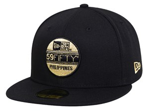 New Era 59FIFTY Philippines Brass Logo Black 59FIFTY Cap
