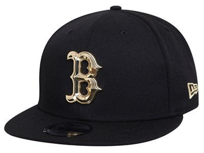 Boston Red Sox MLB Metal Beveled Black 9FIFTY Cap