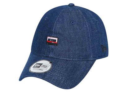 New Era Cassette Mini Logo Indigo Denim Navy 9THIRTY Cap