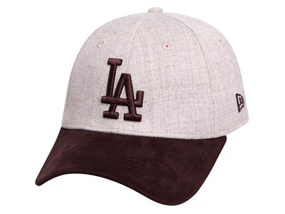 Los Angeles Dodgers MLB Heather Contrast Oatmeal Brown 39THIRTY Cap
