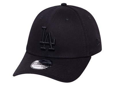 Los Angeles Dodgers MLB League Essential Black on Black 39THIRTY Cap