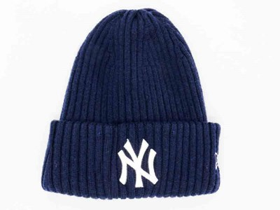 New York Yankees MLB Beams Navy Wool Cuff Knit Beanie (ONLINE EXCLUSIVE)