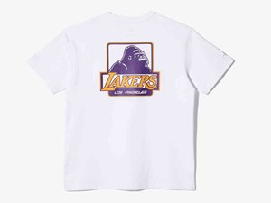 Los Angeles Lakers NBA XLarge Short Sleeve White Shirt (LAST STOCK Size S)