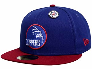 Los Angeles Clippers NBA XLarge Cardinal Dark Royal 59FIFTY Cap (LAST STOCK)