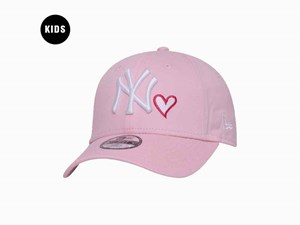 New York Yankees MLB Heart Pink 9FORTY Youth Kids Cap