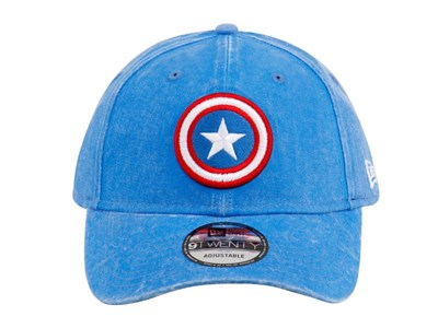 Captain America Marvel Rugged Wash Blue 9TWENTY Cap