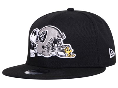 Oakland Raiders NFL Peanuts Snoopy Black 9FIFTY Youth Kids Cap
